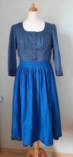 Vestido Dirndl azul aciano