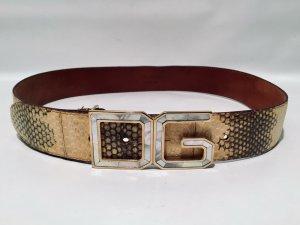 Dolce & Gabbana Cinturón de cuero multicolor Cuero