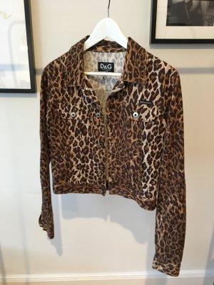 Vintage DOLCE & GABBANA Leoparden Jeansjacke wie NEU!