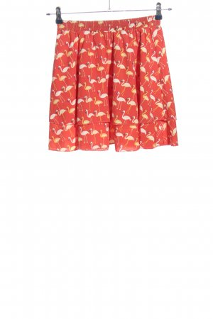 Vintage Dressing Flared Skirt red-white allover print casual look