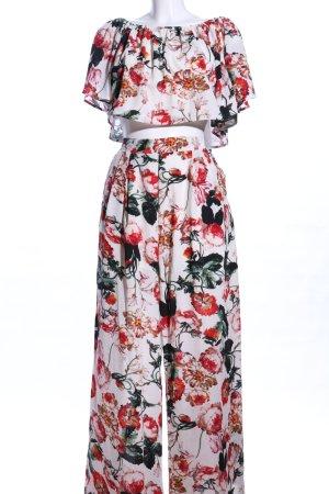Vintage Dressing Jersey Twin Set Blumenmuster Casual-Look