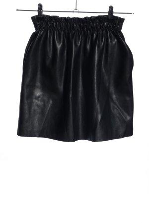 Vintage Dressing Kunstlederrock schwarz Casual-Look