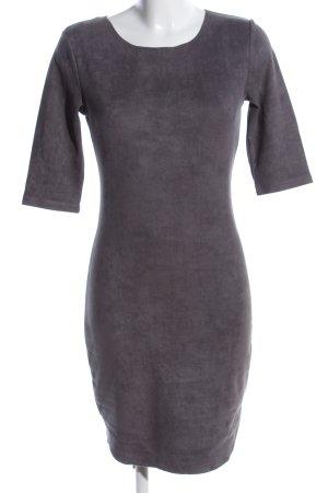 Vintage Dressing Stretchkleid hellgrau Business-Look