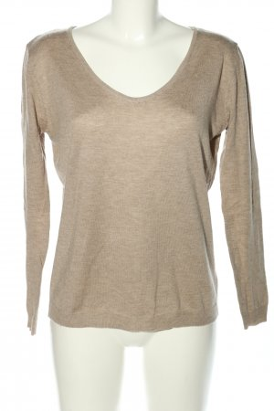 Vintage Dressing Strickpullover creme meliert Casual-Look