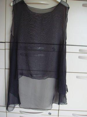 Vintage A-lijn top zwart Polyester