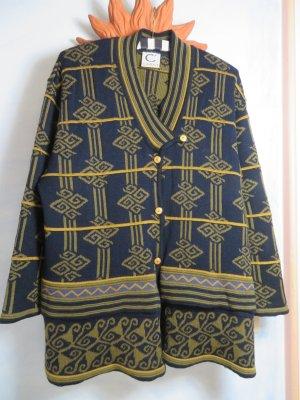 True Vintage Cardigan norvégien multicolore laine