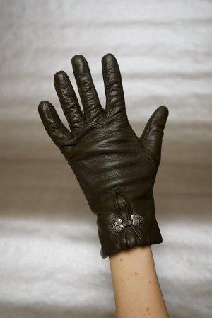 Vintage Leren handschoenen veelkleurig Leer