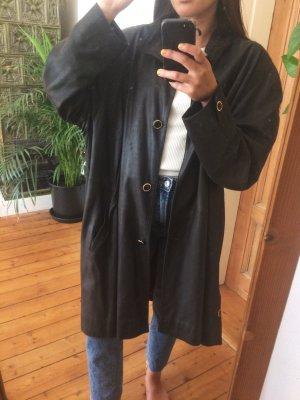 Von Holdt Manteau en cuir noir cuir