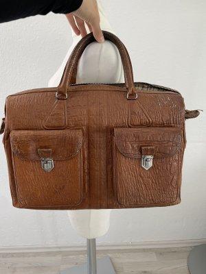 Vintage Echt Leder Reisetasche braun