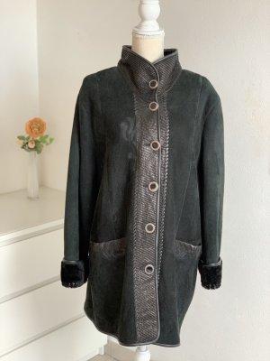 Vintage Cappotto in pelle nero