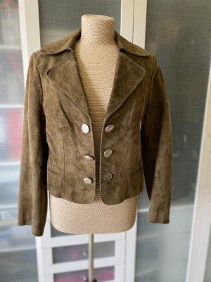 Vintage Love Folkloristische jas grijs-bruin