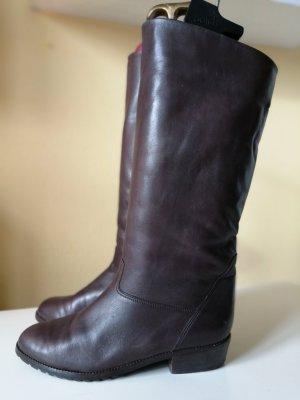 Vintage Echtleder Stiefel gefüttert Gr. 39 top Zustand