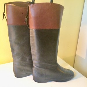 Vintage Echtleder Stiefel Gr 39