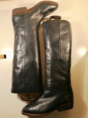 Vintage Echtleder Stiefel mit Fell gefüttert Gr. 38 top
