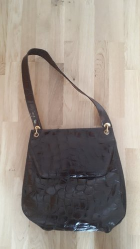 Genuine Leather Borsa a tracolla marrone-marrone scuro