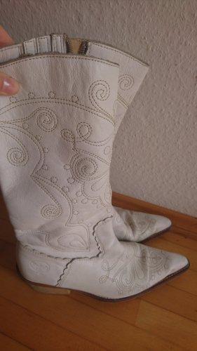 Vintage echtleder Western Boots Stickerei