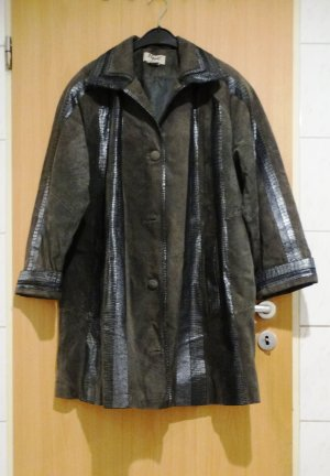 True Vintage Leather Coat multicolored leather