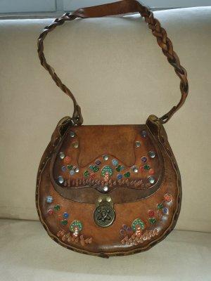 Vintage einzigartige Leder Tasche!
