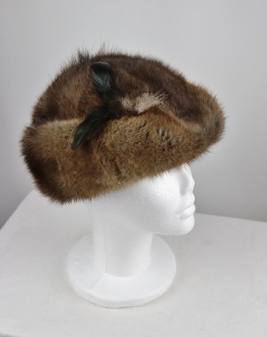 Vintage Fur Hat multicolored pelt