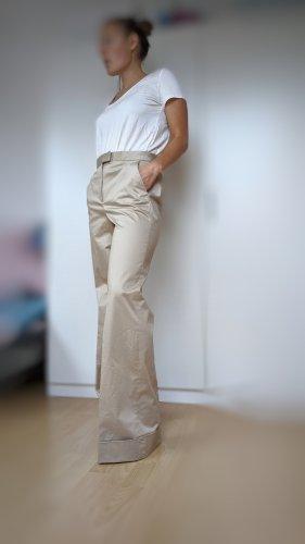 Massimo Dutti Pantalon pattes d'éléphant crème-beige
