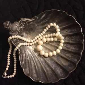 Vintage Engelshaut Korallen Kette Collier