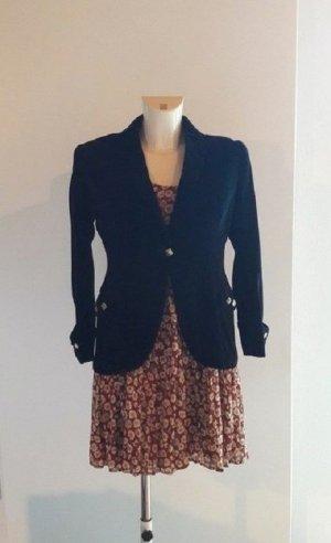 Vintage Englische Schwarze Samt-Jacke Blazer
