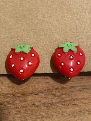 Vintage Erdbeer Ohrringe