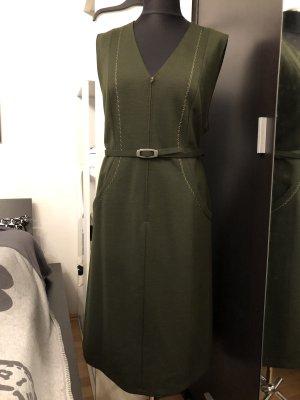 Vintage Etuikleid 60er olivgrün