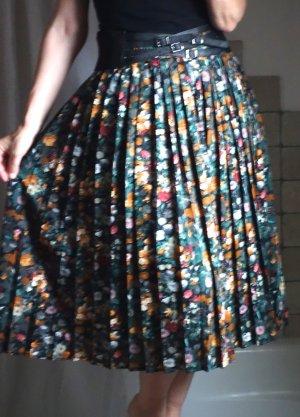 Plooirok zwart-oranje Polyester