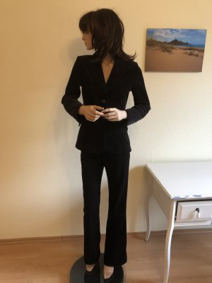 Vintage Feinkkord Anzug Mango 34 schwarz Blazer Hose