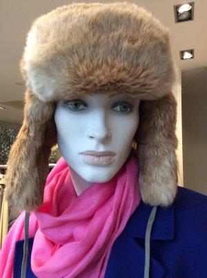 Fur Hat bronze-colored-beige fur