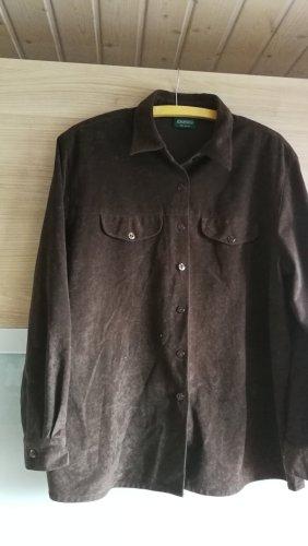 Camicia di flanella marrone scuro