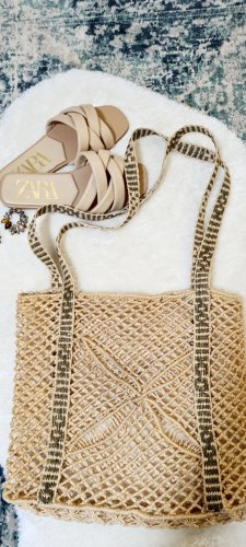 Real Vintage Bolso tipo cesta beige-ocre
