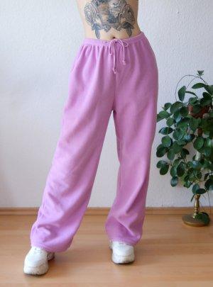 Vintage Fleecehose rosa, oversized Stoffhose Y2K, Jogginghose 00er Barbie