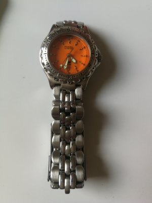 Fossil Watch With Metal Strap silver-colored-orange