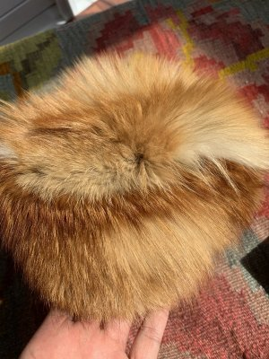 Vintage Fur Hat multicolored