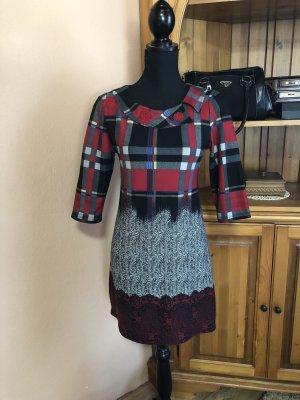 Vintage ganzjähriges kariertes Kleid 3/4 arm