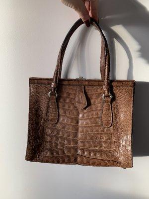 Vintage genuine crocodile leather bag