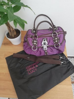 George Gina & Lucy Weekender Bag grey violet-dark violet