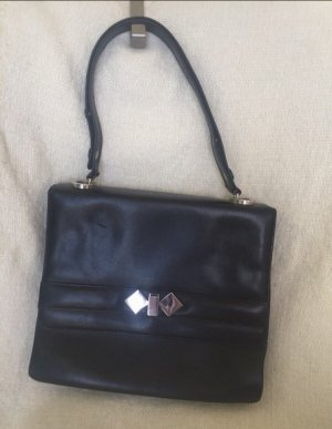 Vintage: Geräumige Lederhandtasche mit verstellbarem Henkel