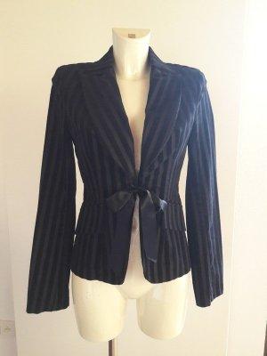 Vintage gestreifter pinstripe Blazer Jacke französisch french style