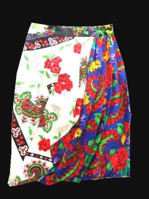 Versace Pencil Skirt blue silk