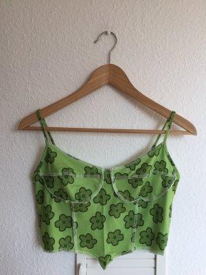 Vintage Top corto verde-verde bosco