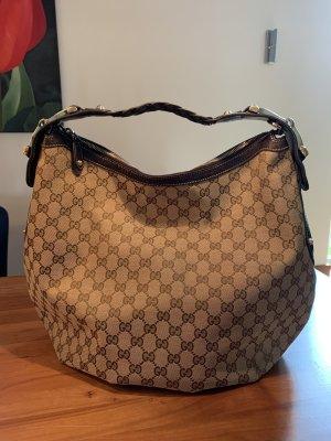 Gucci Shoulder Bag dark brown-oatmeal