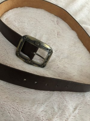 Vintage Leather Belt dark brown