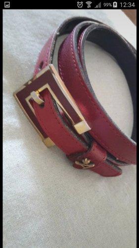 Vintage Boucle de ceinture rouge foncé