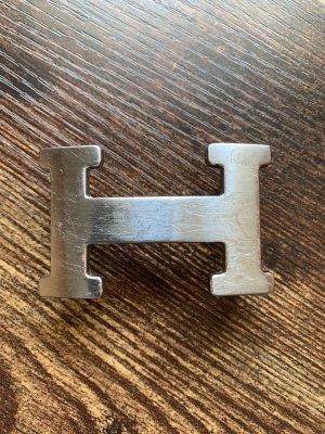 Hermès Fibbia per cinture argento Metallo