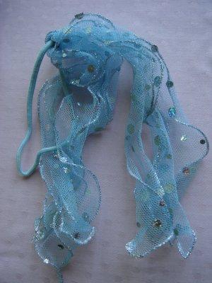 Vintage Wstążka do włosów jasnoszary-jasnoniebieski