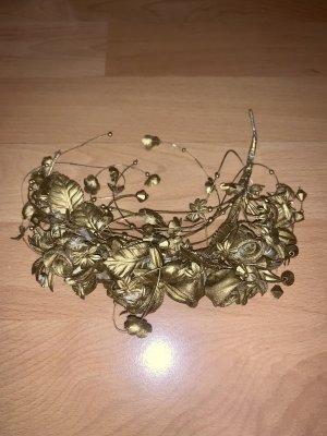 Vintage Opaska na włosy złoto