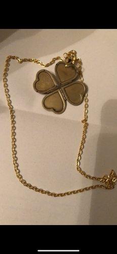 Vintage halskette Amulett für vier Bilder